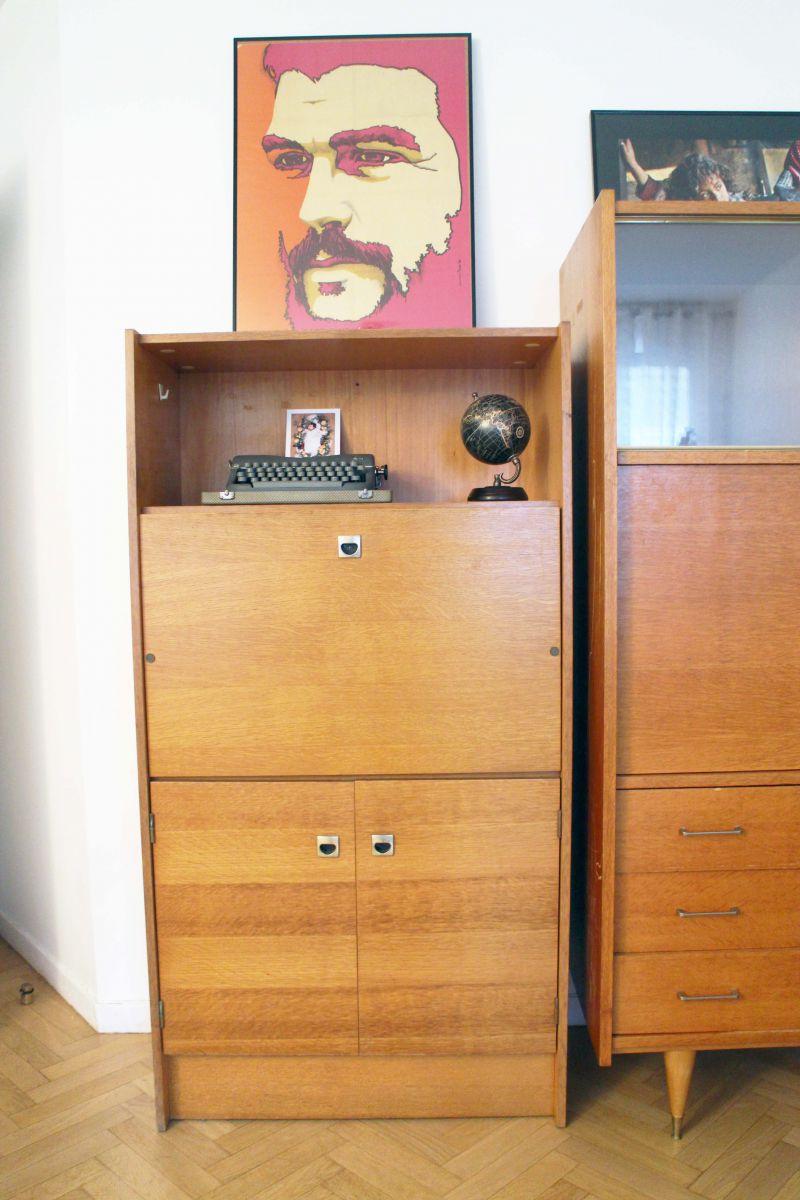 secretaire bureau vintage style scandinave annees 50
