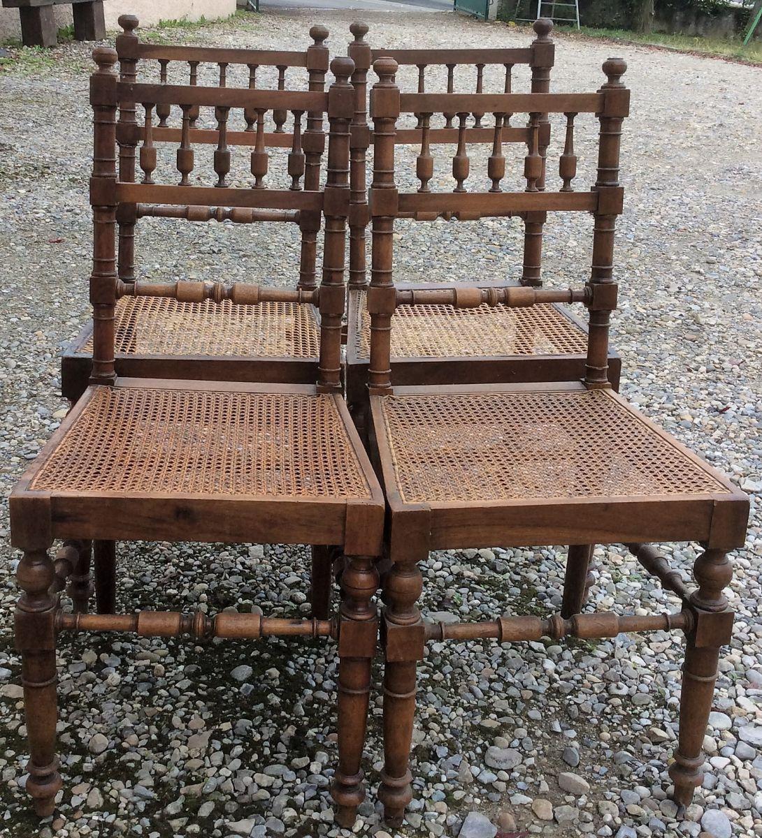 Style De Chaises Anciennes 4 chaises cannées style henri ii