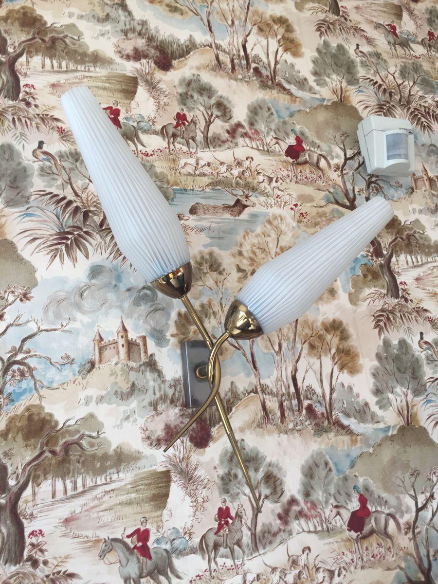appliques tulipes vintage ann es 50 luckyfind. Black Bedroom Furniture Sets. Home Design Ideas