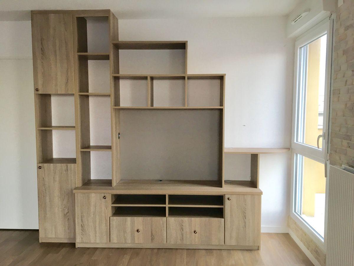 meuble tv biblioth que archea luckyfind. Black Bedroom Furniture Sets. Home Design Ideas