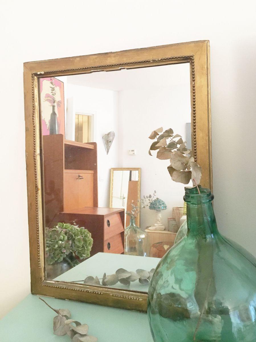 Miroir dor vintage patin 70 39 s luckyfind for Miroir site