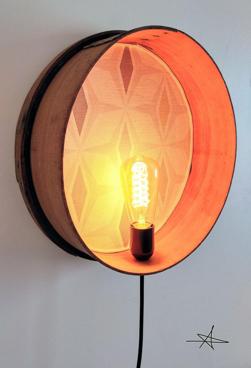Lampe murale applique vintage tamis losanges luckyfind - Lampe applique murale ...