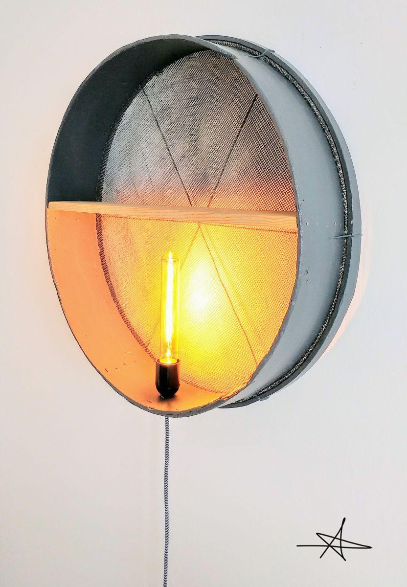 Lampe murale applique vintage gris acier luckyfind - Lampe applique murale ...