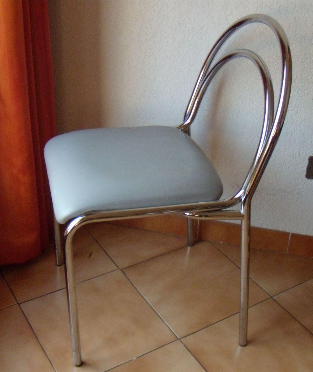 chaise chrome ska 70s luckyfind. Black Bedroom Furniture Sets. Home Design Ideas