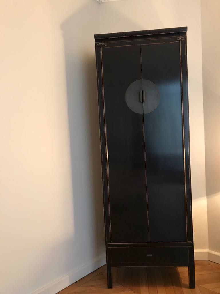 armoire penderie etagere style asiatique luckyfind. Black Bedroom Furniture Sets. Home Design Ideas