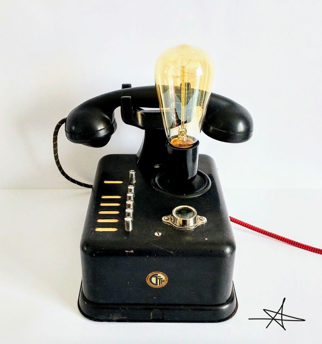 Lampe industrielle lampe vintage big black phone 39 luckyfind - Lampe vintage industrielle ...