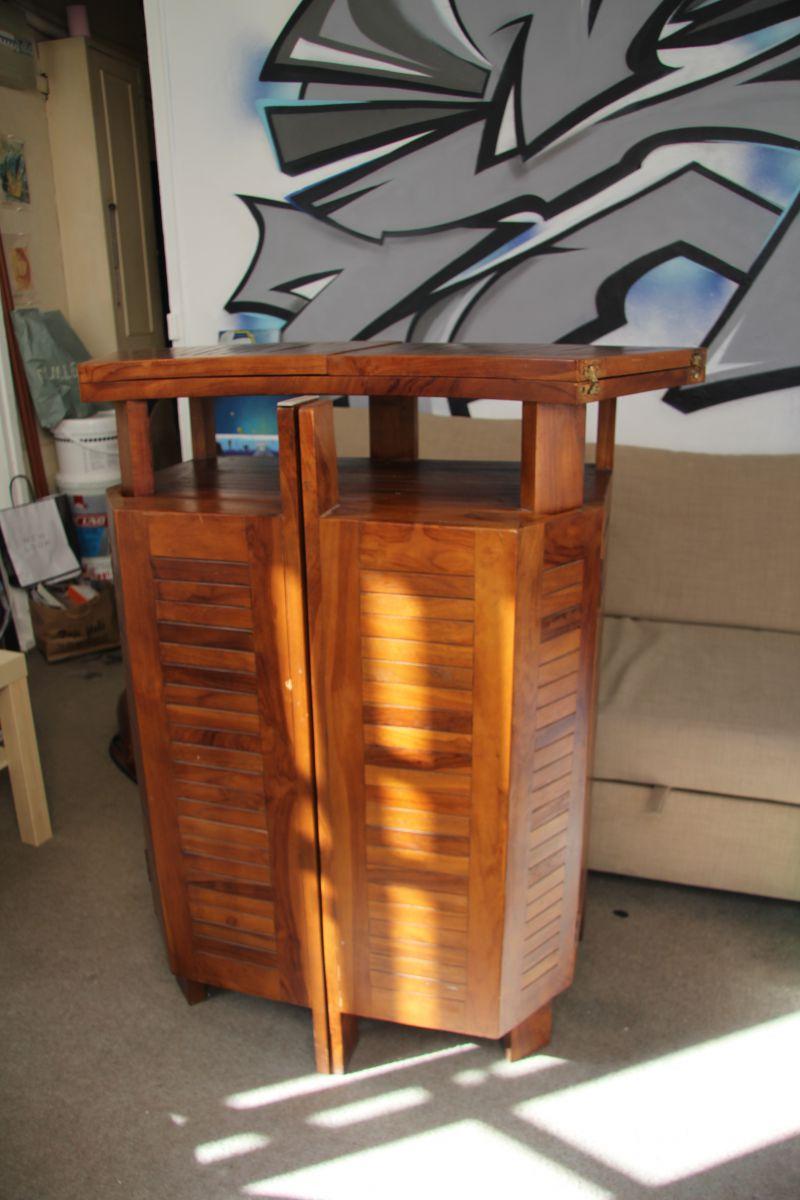 bar en teck massif d pliant meuble d ext rieur luckyfind. Black Bedroom Furniture Sets. Home Design Ideas
