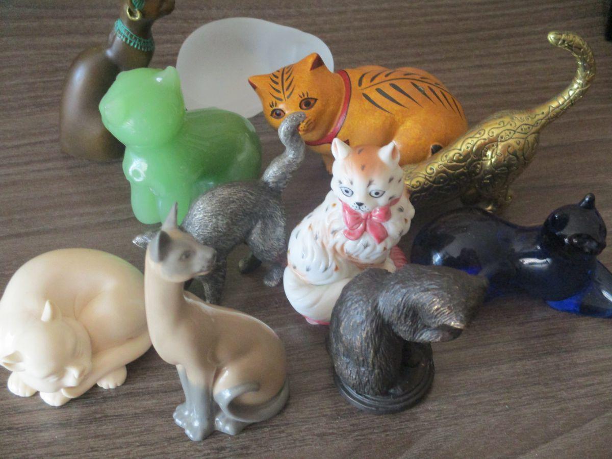 Chats en céramique de franklin mint de 1986