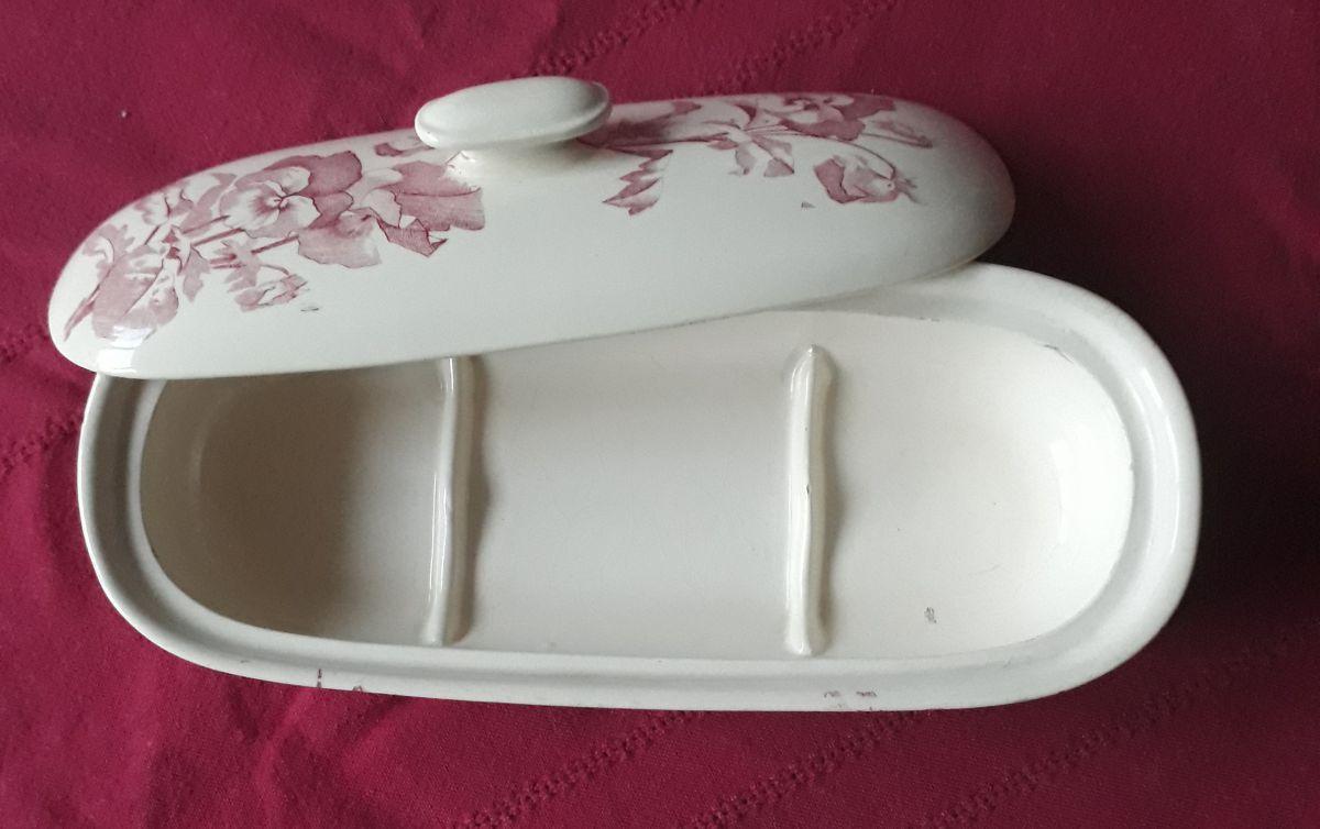 Créer Son Porte Savon porte-savon faience de longchamp, bel objet de collection