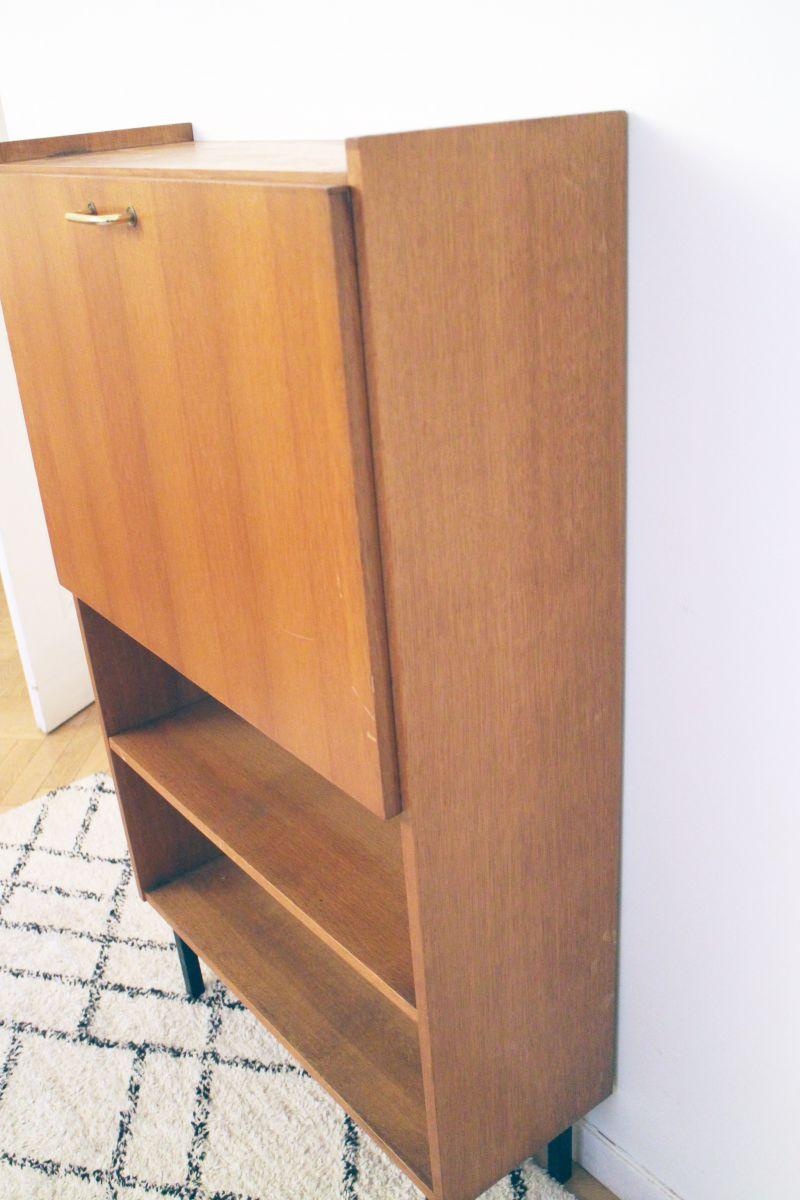 Petit secr taire bureau vintage ann es 60 style pierre for Petit bureau secretaire