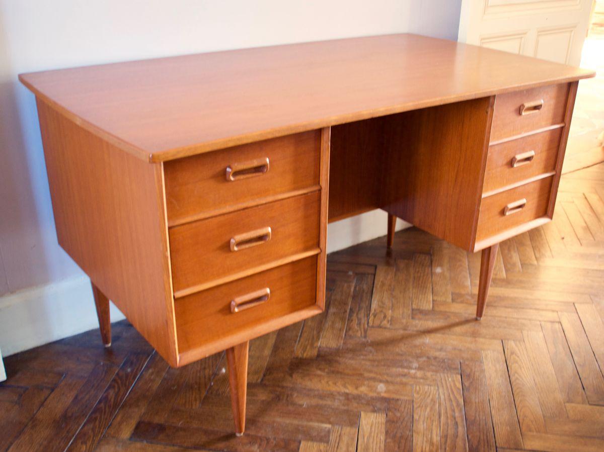 bureau scandinave double face luckyfind. Black Bedroom Furniture Sets. Home Design Ideas