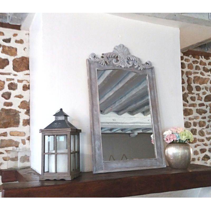 Miroir en bois avec moulures luckyfind for Miroir moulure
