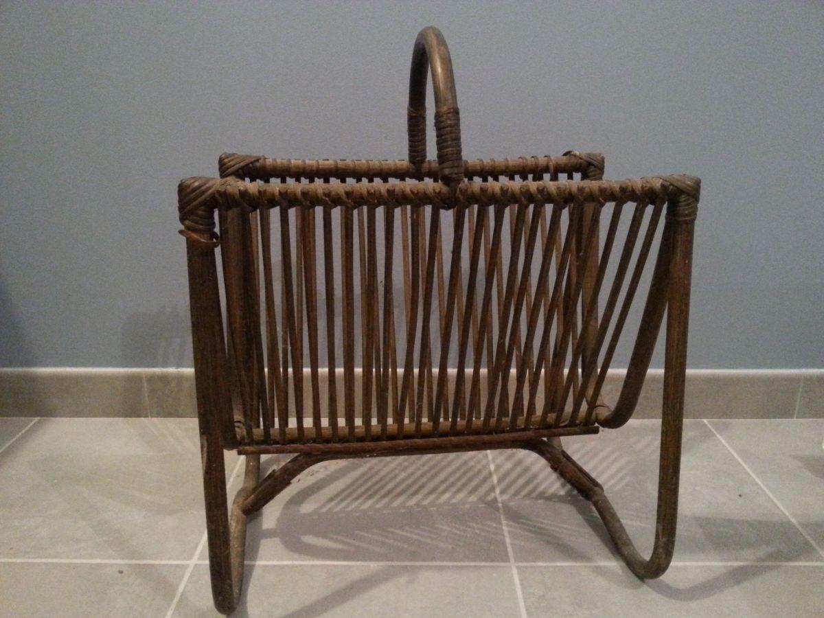 porte revue vintage bambou rotin luckyfind. Black Bedroom Furniture Sets. Home Design Ideas
