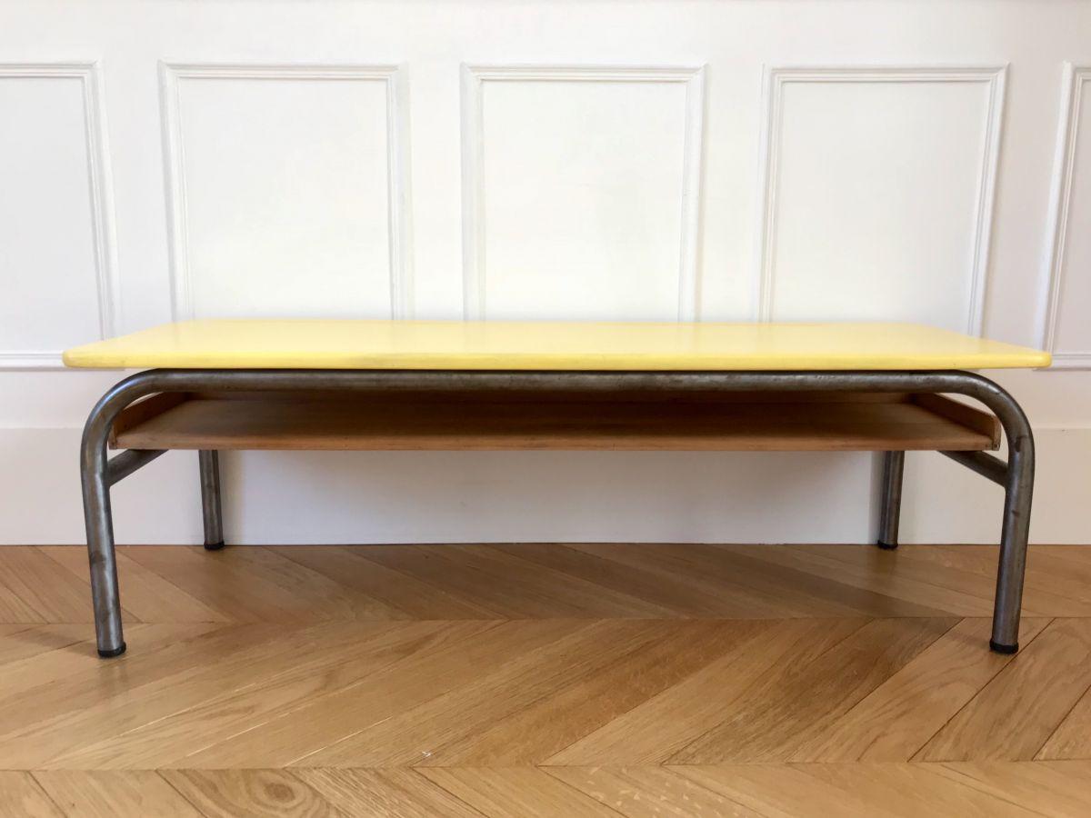 table basse ancien pupitre d colier luckyfind. Black Bedroom Furniture Sets. Home Design Ideas