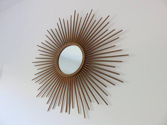 Grand miroir chaty vallauris sign des ann es 50 60 for Miroir 50 60