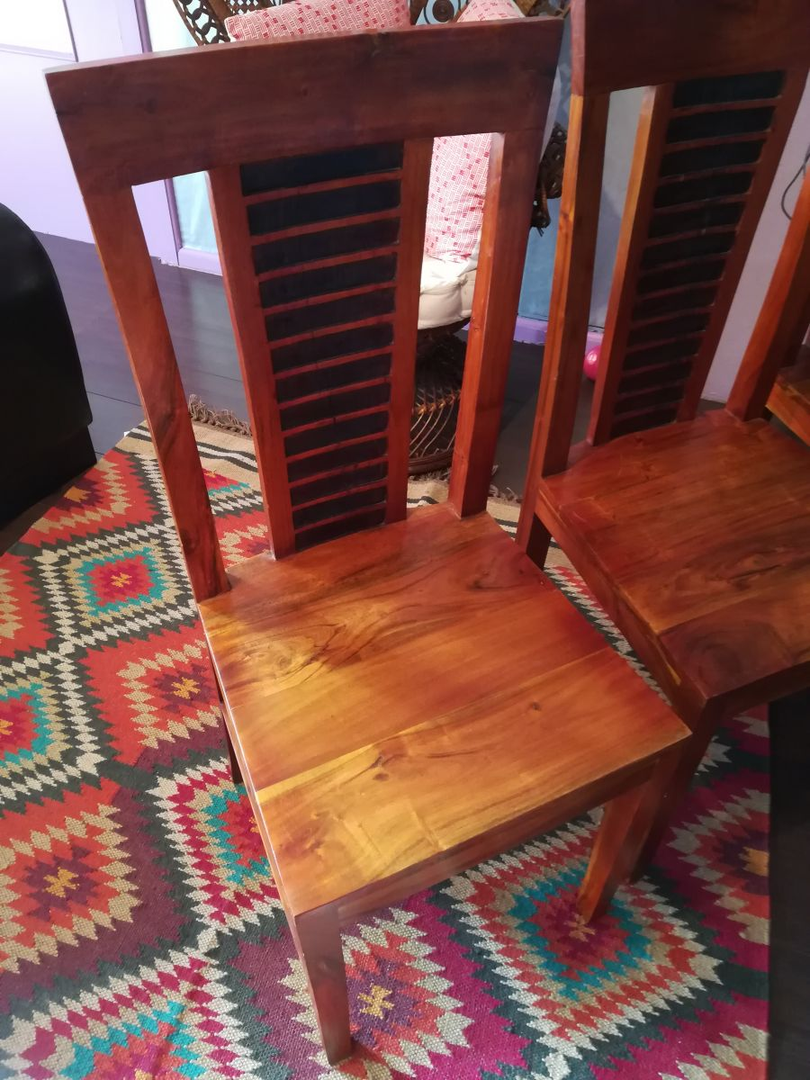 chaises en bois massif bois chiffons luckyfind. Black Bedroom Furniture Sets. Home Design Ideas