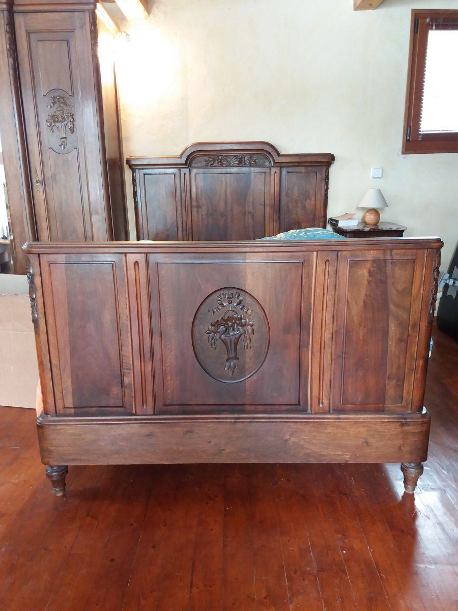 lit ancien largeur 120 luckyfind. Black Bedroom Furniture Sets. Home Design Ideas