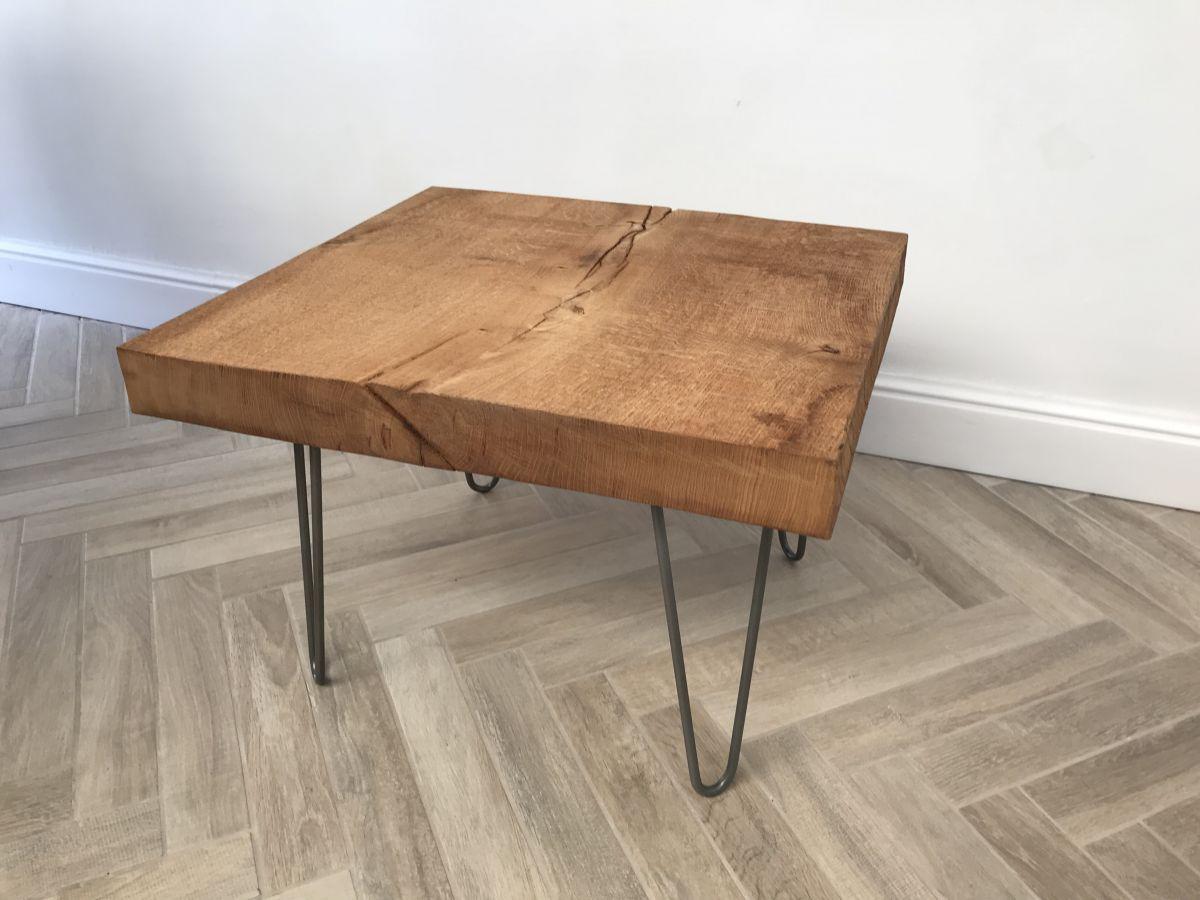 Table basse ch ne brut luckyfind - Proteger une table en bois brut ...