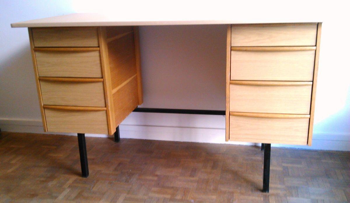 bureau vintage bois formica style guariche luckyfind. Black Bedroom Furniture Sets. Home Design Ideas