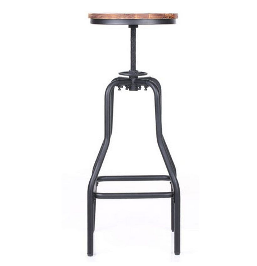 tabouret de bar style industriel luckyfind. Black Bedroom Furniture Sets. Home Design Ideas