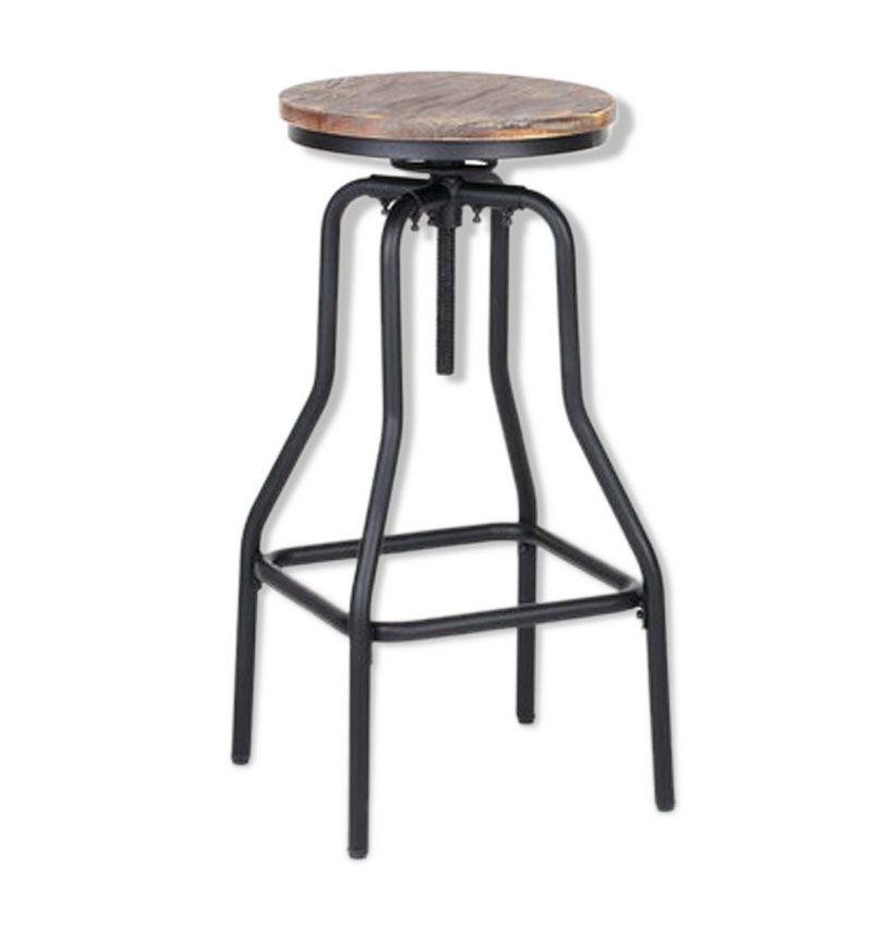 tabouret de bar style industriel luckyfind. Black Bedroom Furniture Sets. Home Design Ideas