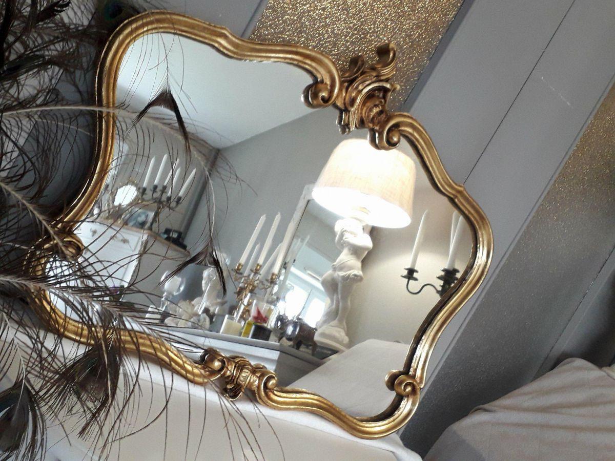 Miroir style rocaille louis xv or luckyfind for Miroir des sports