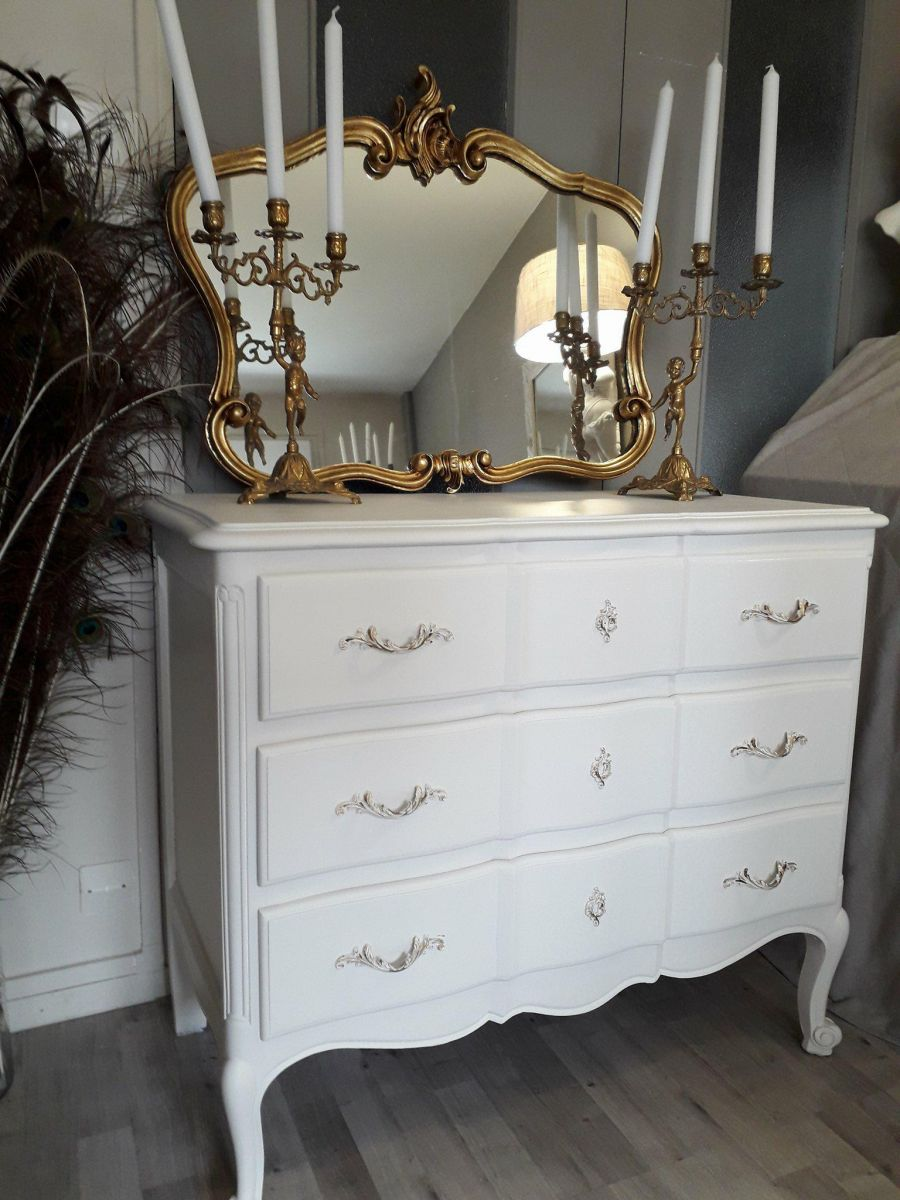 miroir style rocaille louis xv or luckyfind. Black Bedroom Furniture Sets. Home Design Ideas