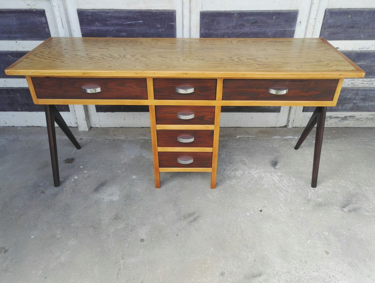 double bureau vintage luckyfind. Black Bedroom Furniture Sets. Home Design Ideas