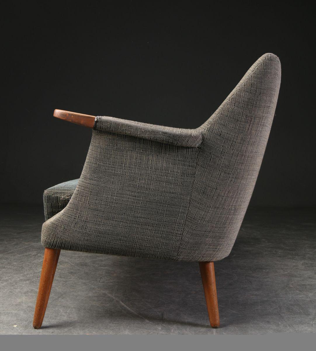 canap trois places en laine poul m jessen luckyfind. Black Bedroom Furniture Sets. Home Design Ideas