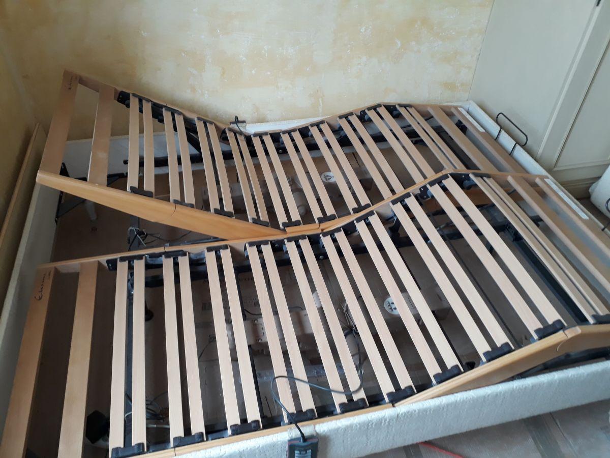 lit double sommier electrique lattoflex luckyfind. Black Bedroom Furniture Sets. Home Design Ideas