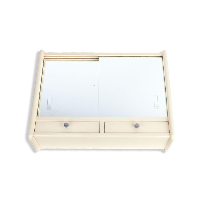 Armoire de toilette vintage en bois vitre miroir luckyfind - Armoire de toilette vintage ...