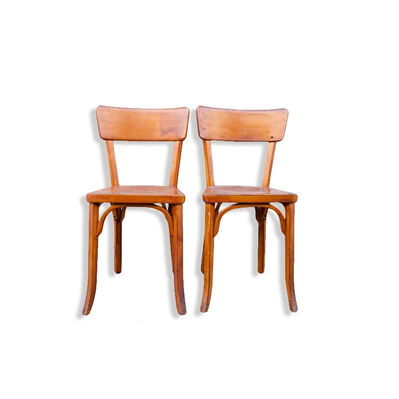 paire de chaises bistrot baumann luckyfind. Black Bedroom Furniture Sets. Home Design Ideas