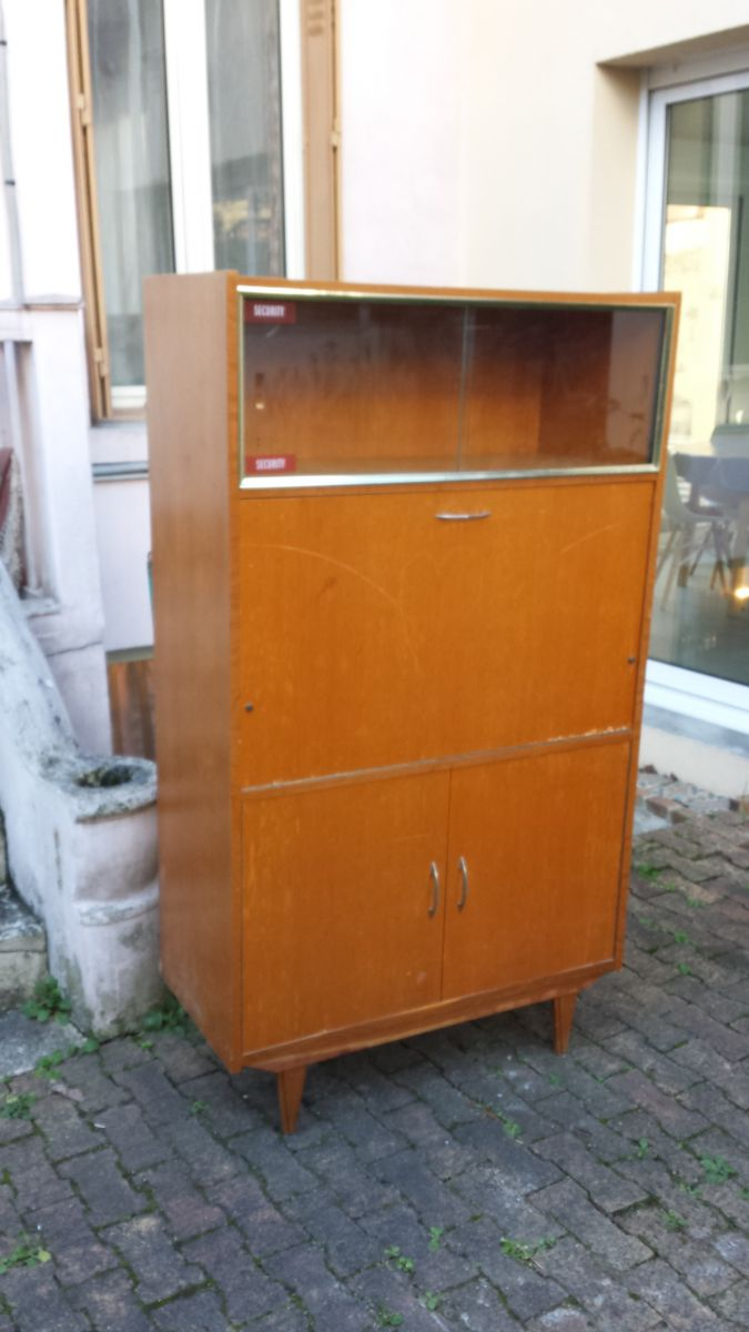 Meuble bureau secr taire vintage ann e 60 luckyfind - Meuble bureau secretaire ...