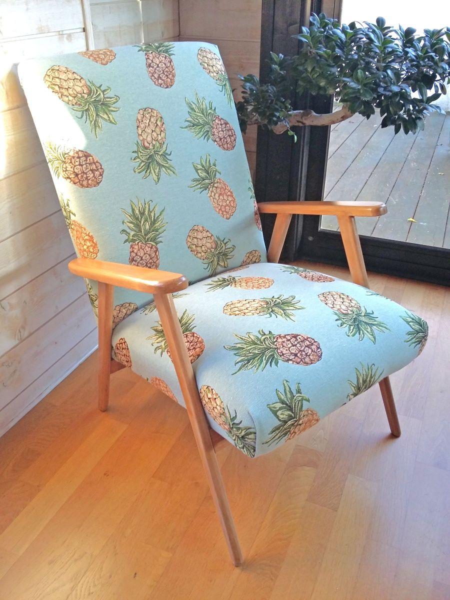fauteuil vintage scandinave relook luckyfind. Black Bedroom Furniture Sets. Home Design Ideas