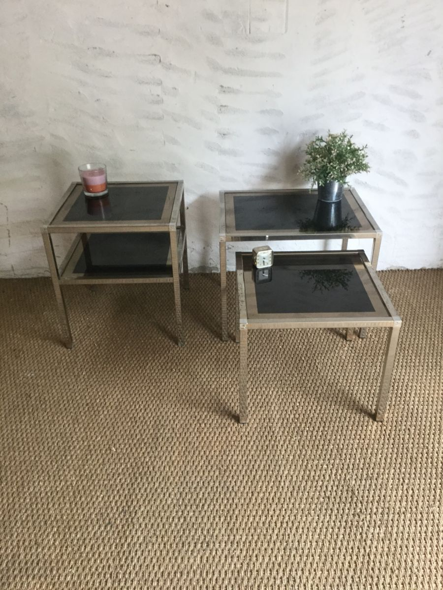 table basse et tables gigognes vintage luckyfind. Black Bedroom Furniture Sets. Home Design Ideas