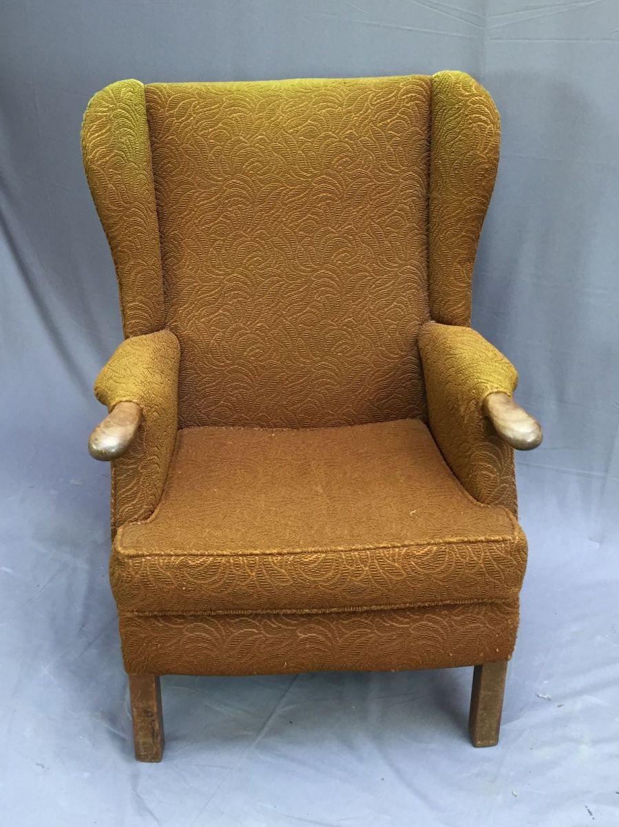 fauteuil oreilles inspir du mod le de parker knoll. Black Bedroom Furniture Sets. Home Design Ideas