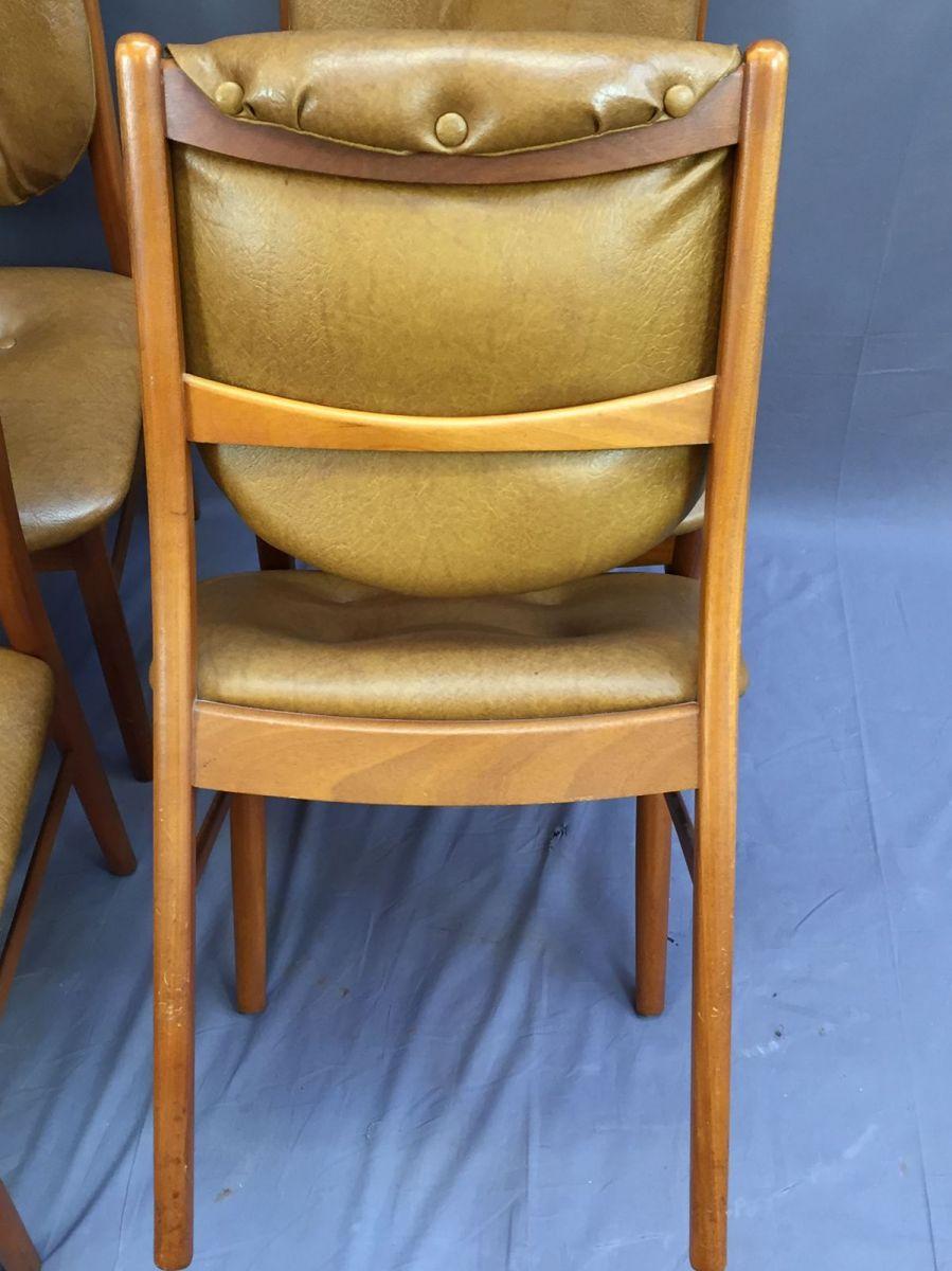 suite de 4 chaises scandinave en teck et ska luckyfind. Black Bedroom Furniture Sets. Home Design Ideas