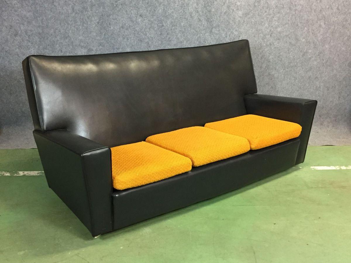 salon en simili cuir des ann es 70 luckyfind. Black Bedroom Furniture Sets. Home Design Ideas