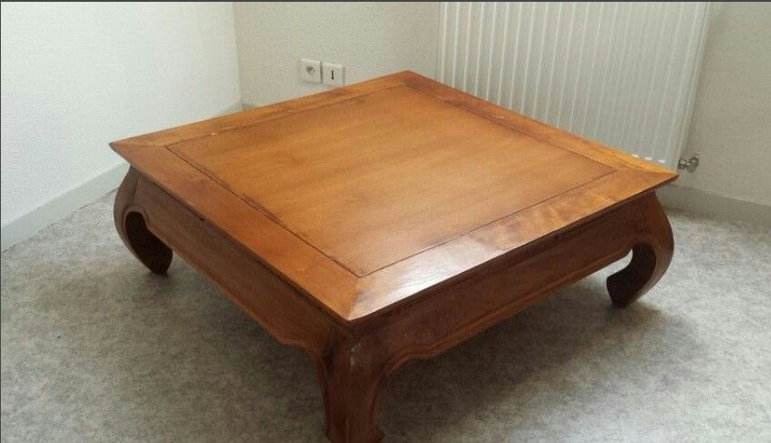 Table Basse Carree Opium Teck Massif Luckyfind