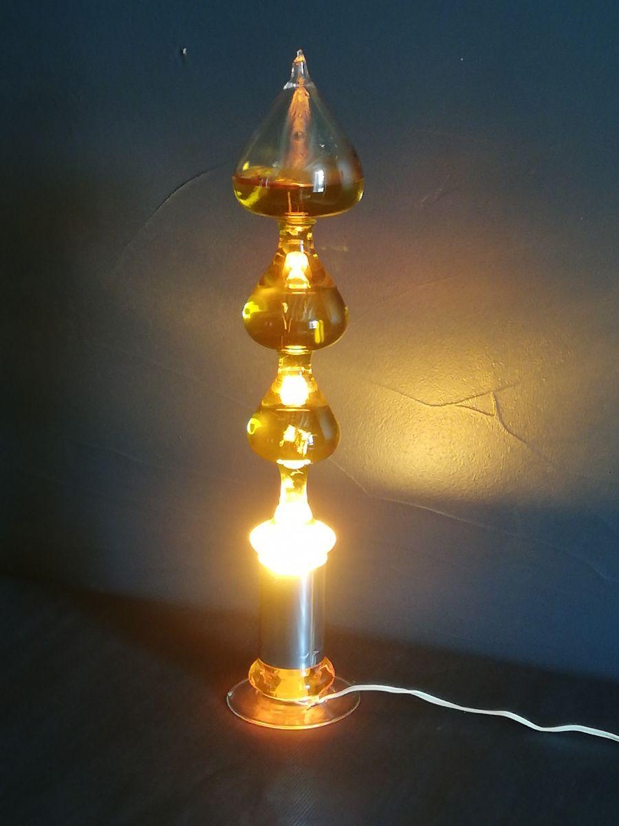 Années Luckyfind Verre 1960 Bouillonnante – Lampe En vn0N8mw