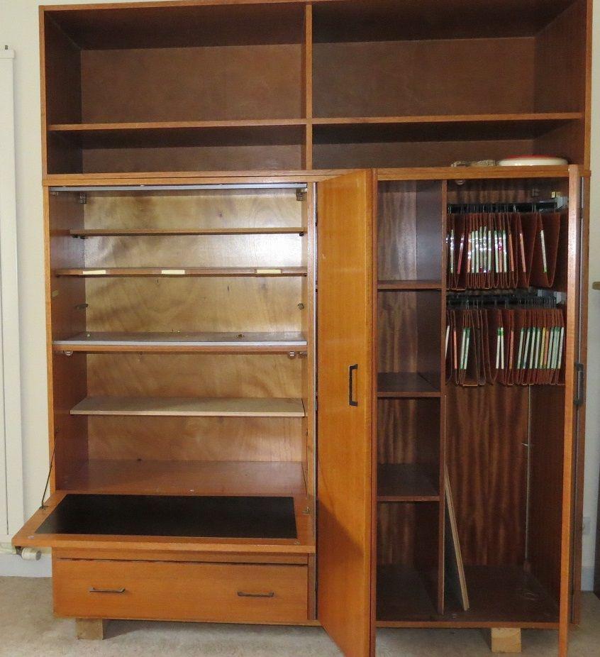 meuble secretaire des ann es 60 luckyfind. Black Bedroom Furniture Sets. Home Design Ideas