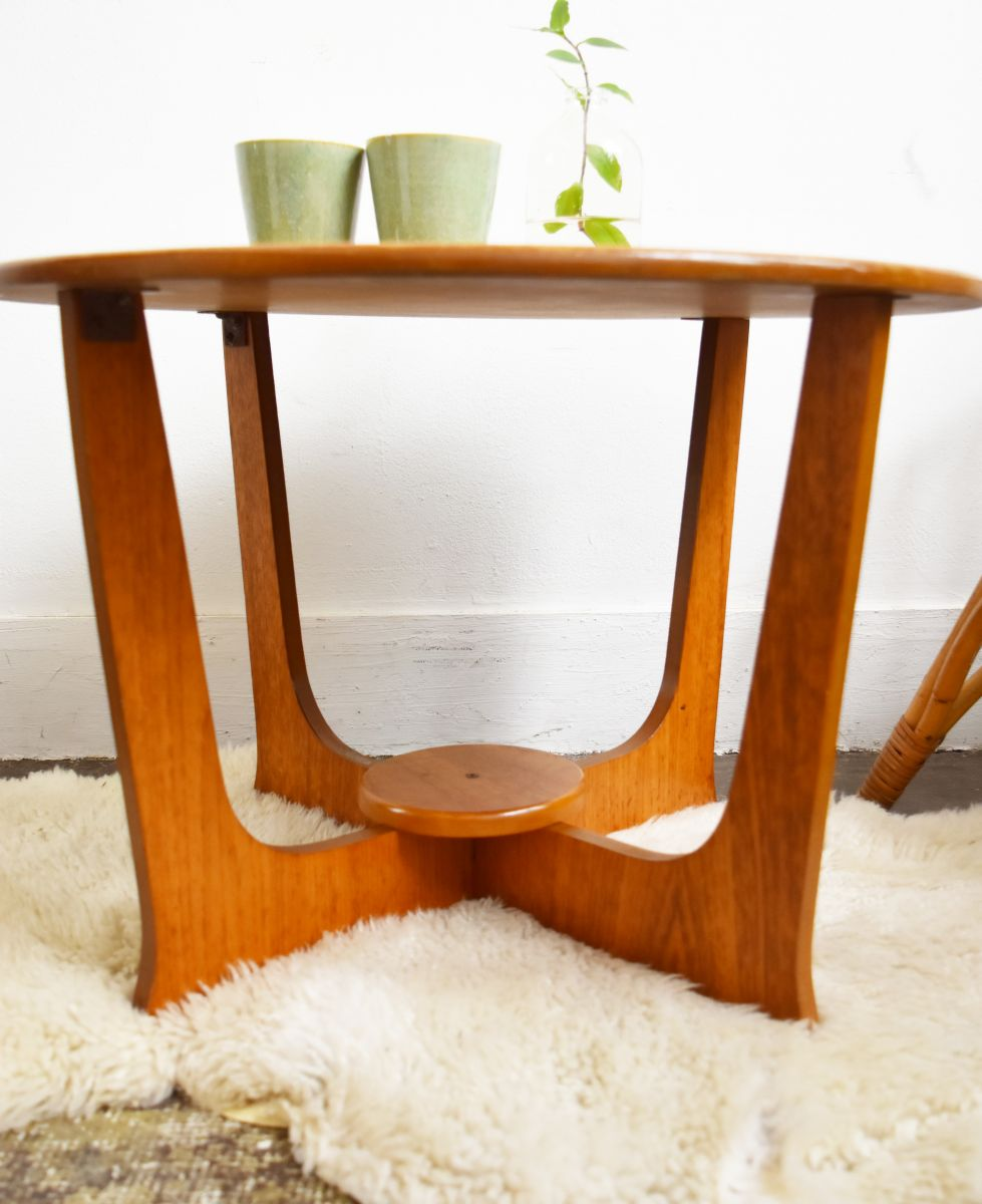Table de salon scandinave vintage en teck