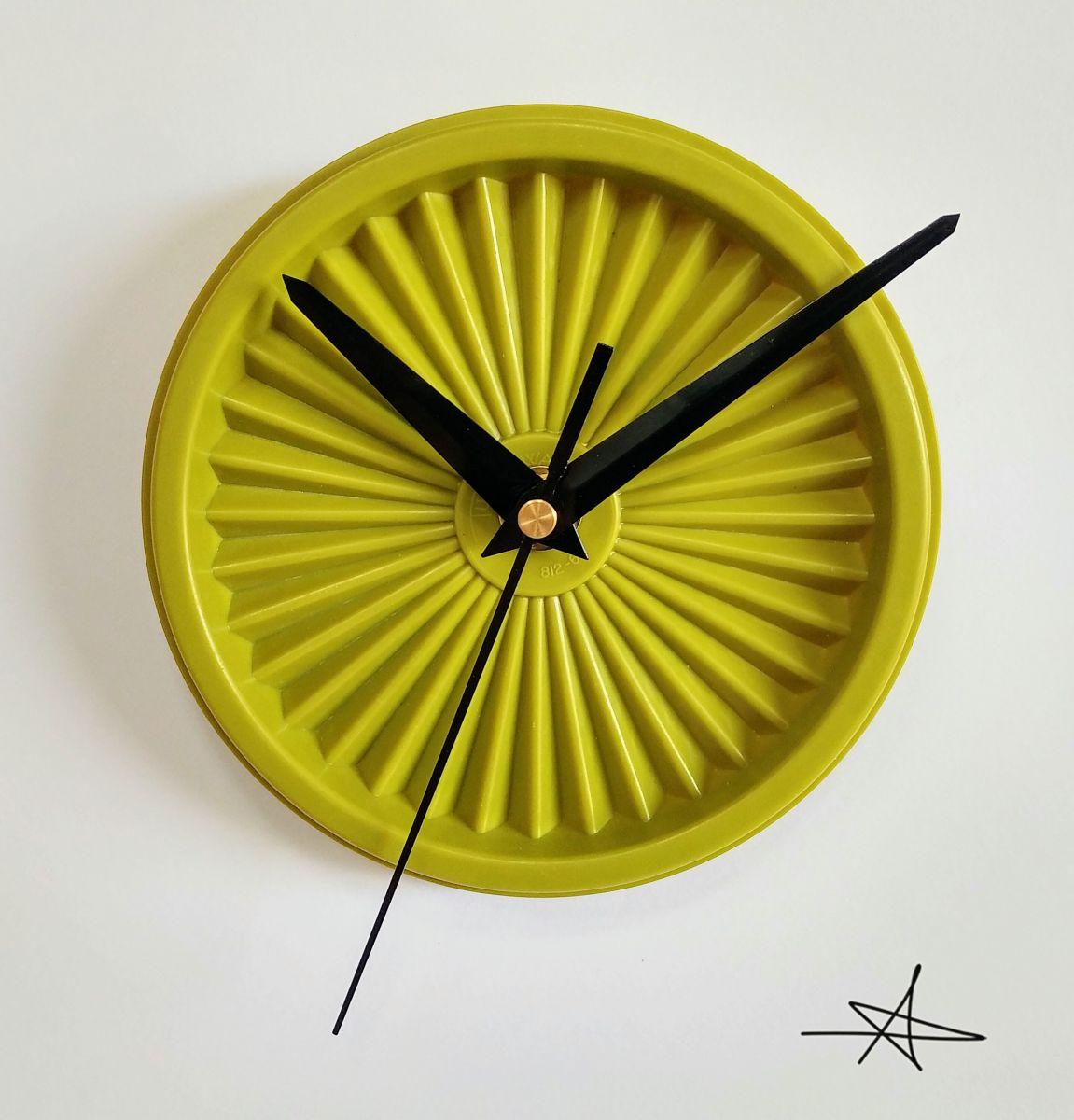 """Comment Redonner Du Lustre Au Quartz horloge vintage, pendule """"tupperware vert"""""""