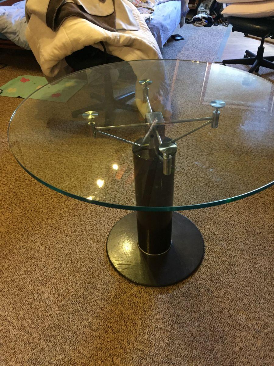 table ronde 100 de diametre luckyfind. Black Bedroom Furniture Sets. Home Design Ideas