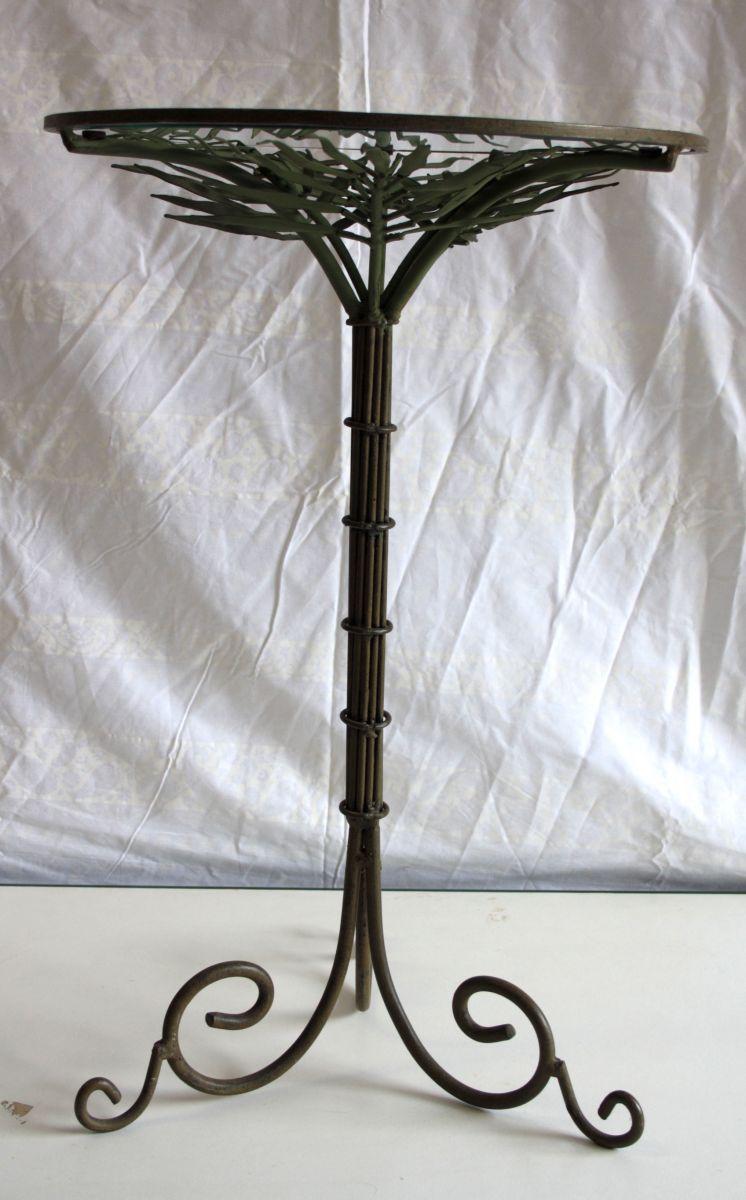 gu ridon en fer forg d cor v g tal luckyfind. Black Bedroom Furniture Sets. Home Design Ideas