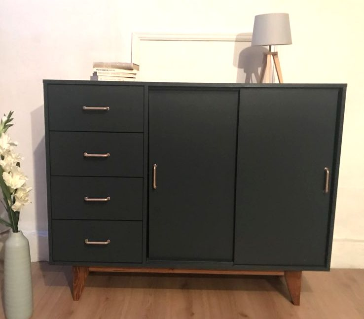 buffet scandinave vintage luckyfind. Black Bedroom Furniture Sets. Home Design Ideas