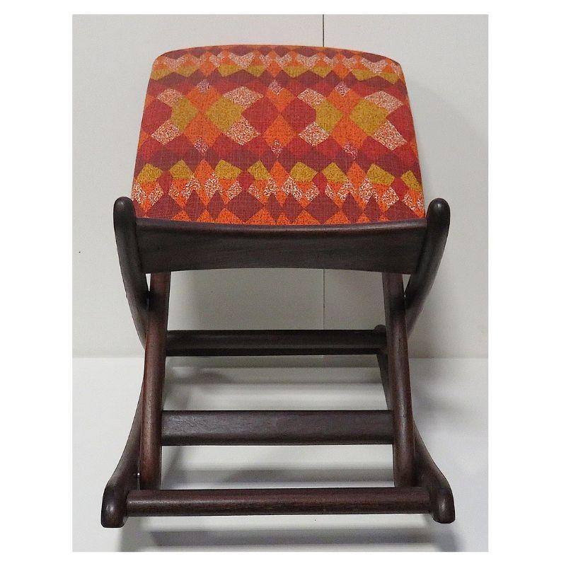 tabouret repose pied teck vintage design scandinave luckyfind. Black Bedroom Furniture Sets. Home Design Ideas