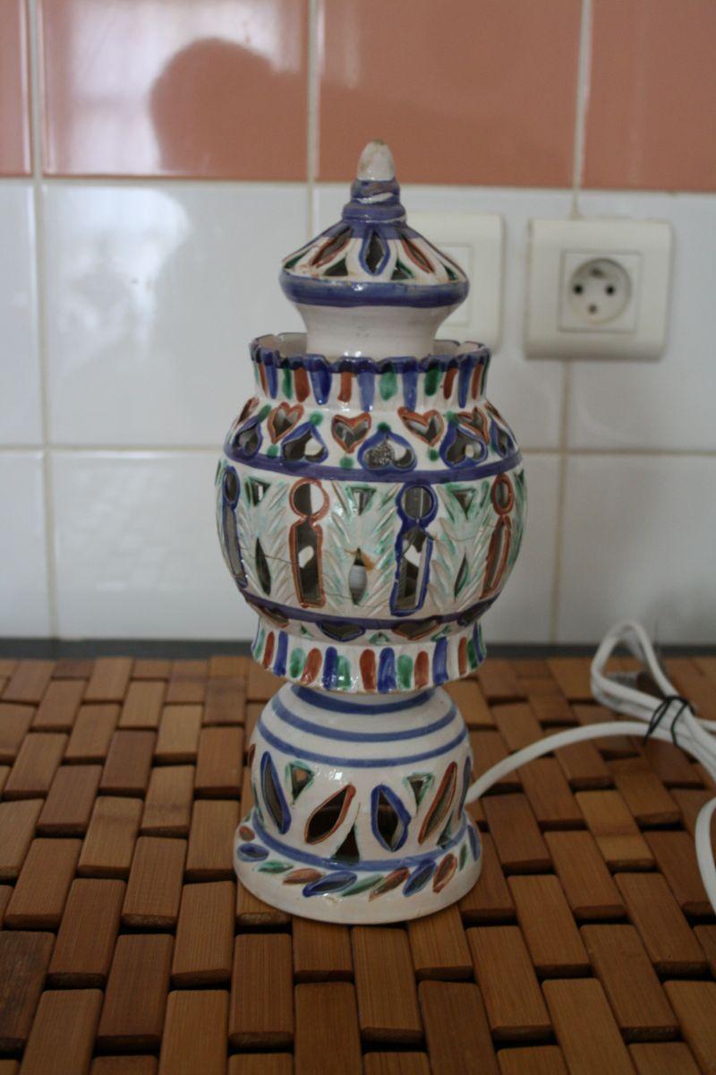 Lampe Ethnique Petite Poser A Ceramique Marocaine EW2e9IDHY