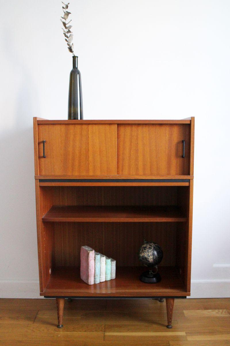meuble rangement biblioth que vintage 50 39 s style p guariche luckyfind. Black Bedroom Furniture Sets. Home Design Ideas