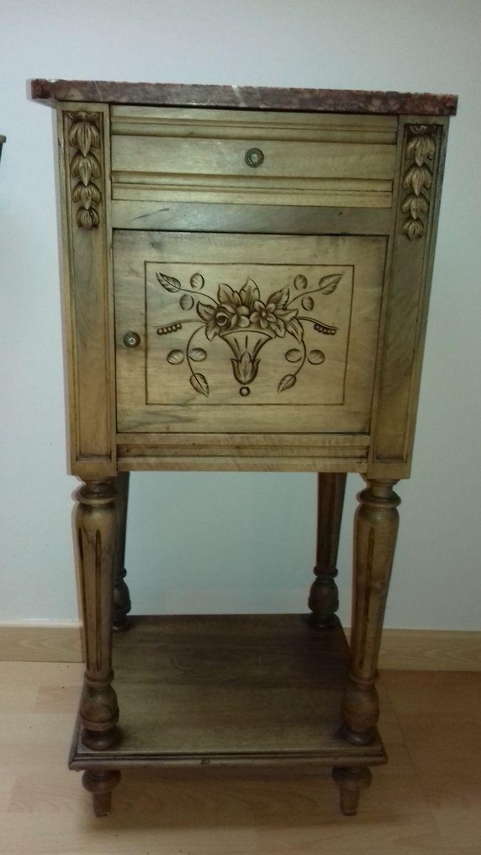 chevet ou table d 39 appoint art d co avec marbre luckyfind. Black Bedroom Furniture Sets. Home Design Ideas